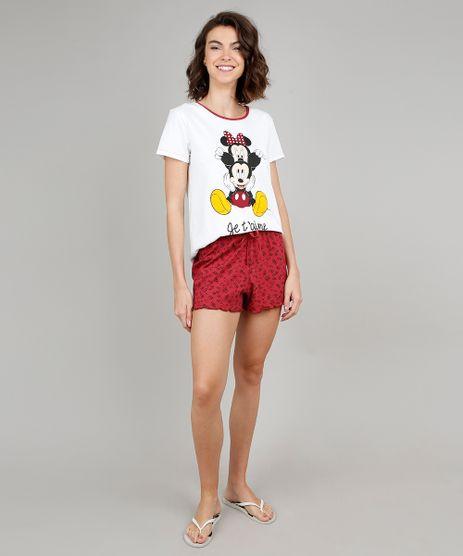 Pijama-Feminino-Mickey-e-Minnie-Manga-Curta-Off-White-9547557-Off_White_1