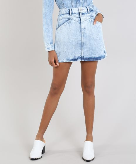 Saia-Jeans-Feminina-Mindset-Curta-com-Recortes-Azul-Claro-9642628-Azul_Claro_1
