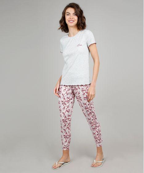72e7a9629cb97d Pijama Feminino Canelado