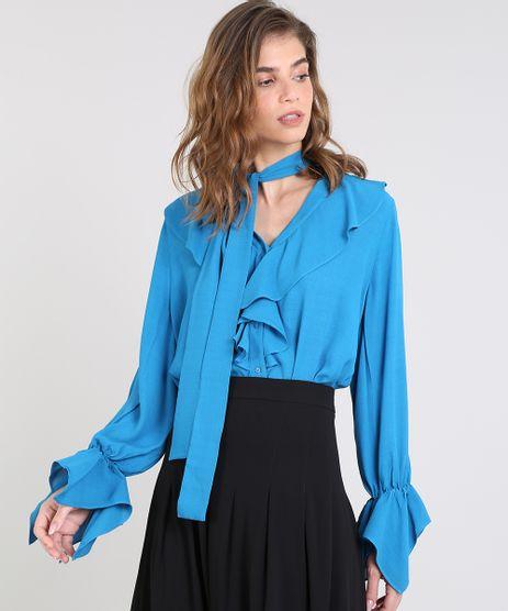 Camisa-Feminina-Mindset-Ampla-com-Babados-Manga-Longa-Azul-9385667-Azul_1