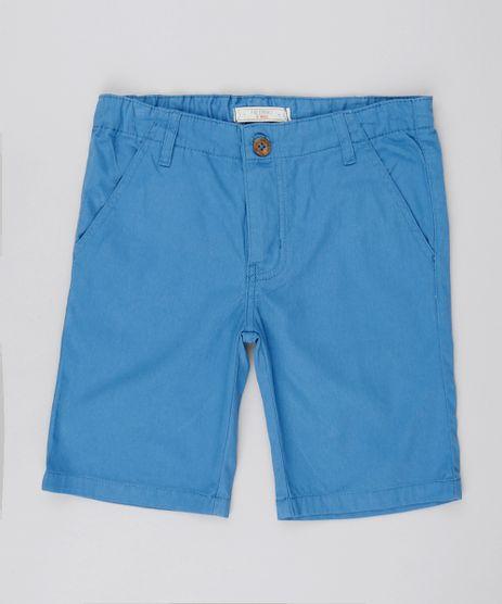 Bermuda-de-Sarja-Infantil-Reta-Azul-Medio-8525724-Azul_Medio_1