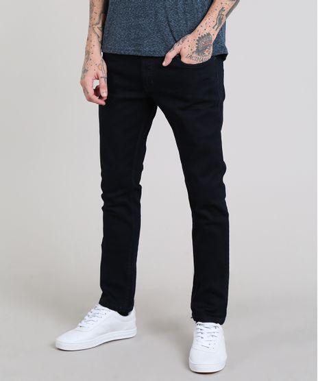 46a8b9e61 Calca-Jeans-Masculina-Skinny-com-Bolsos-Azul-Escuro-