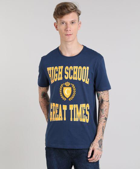Camiseta-Masculina--High-School--Manga-Curta-Gola-Careca-Azul-Marinho-9510434-Azul_Marinho_1