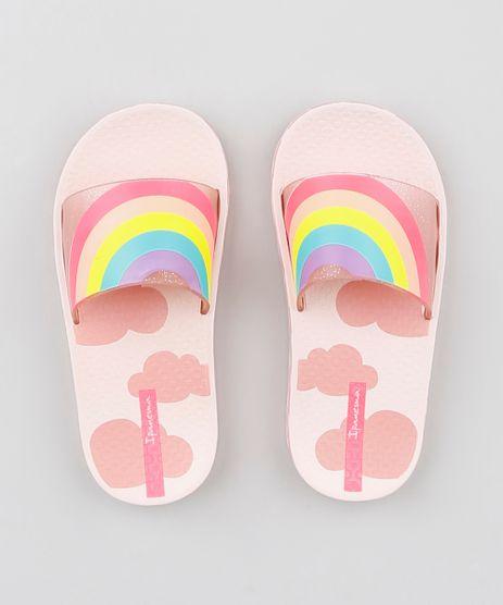 2e307362e Chinelo-Slide-Infantil-Ipanema-Arco-Iris-com-Brilho-