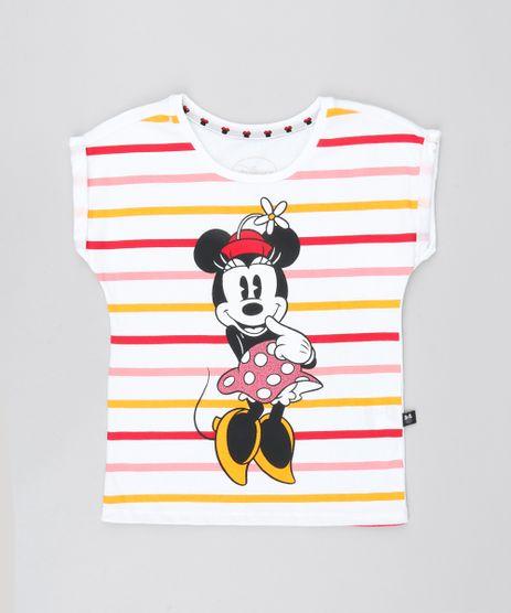 Blusa-Infantil-Minnie-com-Brilho-Manga-Curta-Off-White-9547652-Off_White_1
