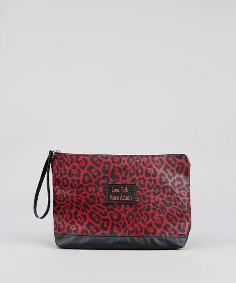 Necessaire-Feminina-Estampada-Animal-Print-Vermelha-Escuro-9526070-Vermelho_Escuro_1