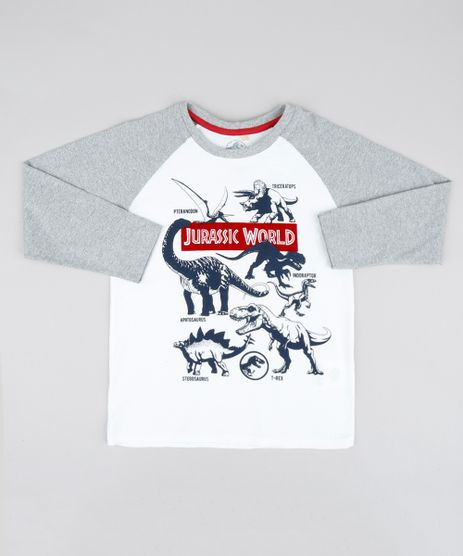 Camiseta-Infantil-Pantera-Negra-Decote-Careca-Manga-Longa-Cinza-Mescla-Claro-9503055-Cinza_Mescla_Claro_1
