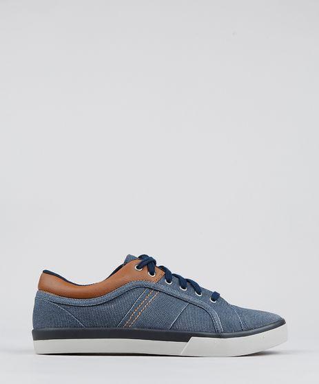 Tenis-Jeans-Masculino-com-Recortes-Azul-Escuro-9565766-Azul_Escuro_1