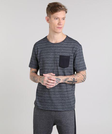 Camiseta-Masculina-Basica-Listrada-com-Bolso-Manga-Curta-Gola-Careca-Cinza-Mescla-Escuro-9555301-Cinza_Mescla_Escuro_1