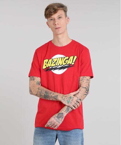 Camiseta-Masculina--Bazinga---The-Big-Bang-Theory-Manga-Curta-Gola-Careca-Vermelha-9591406-Vermelho_1