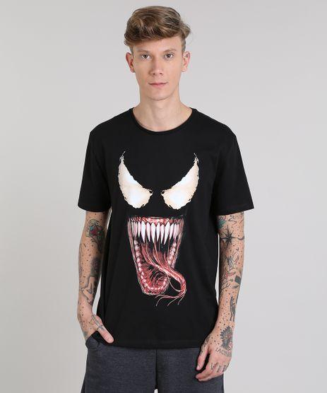 Camiseta-Masculina-Venom-Manga-Curta-Gola-Careca-Preta-9512388-Preto_1