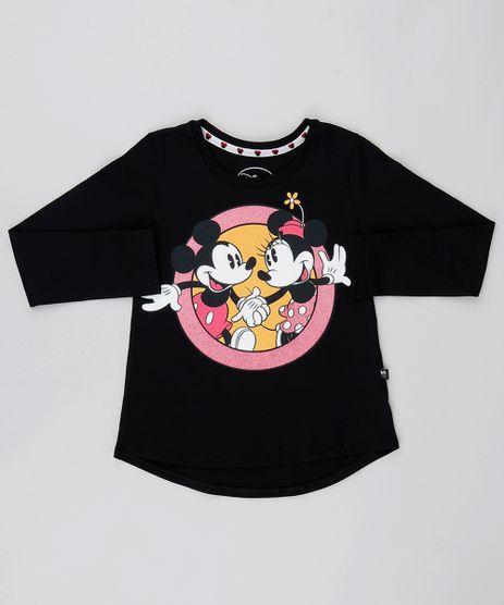 Blusa-Infantil-Minnie-e-Mickey-com-Brilho-Manga-Longa-Preta-9547651-Preto_1