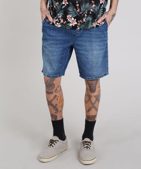 Bermuda-Jeans-Masculina-Reta-com-Bolsos-Azul-Medio-9578293-Azul_Medio_1