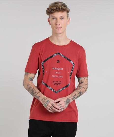 Camiseta-Masculina--Just-Chilling--Manga-Curta-Gola-Careca-Cobre-9533555-Cobre_1