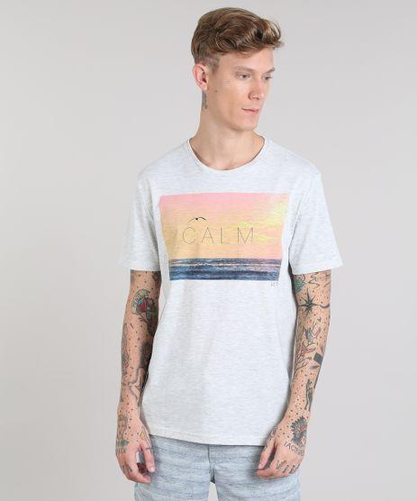 Camiseta-Masculina--Calm--Manga-Curta-Gola-Careca-Cinza-Mescla-Claro-9276655-Cinza_Mescla_Claro_1
