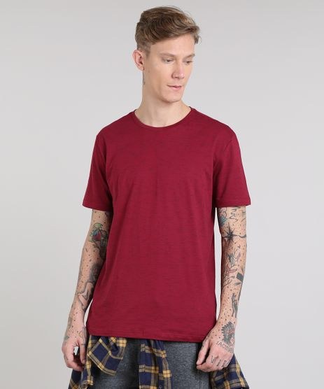 Camiseta-Masculina-Basica-Manga-Curta-Gola-Careca-Vinho-9286133-Vinho_1