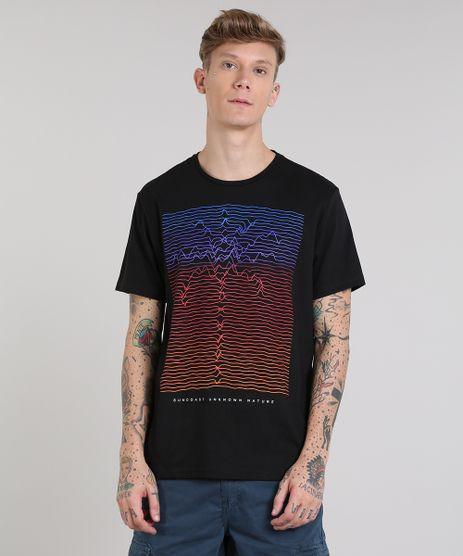 Camiseta-Masculina-com-Estampa-de-Coqueiro-Manga-Curta-Gola-Careca-Preta-9513274-Preto_1