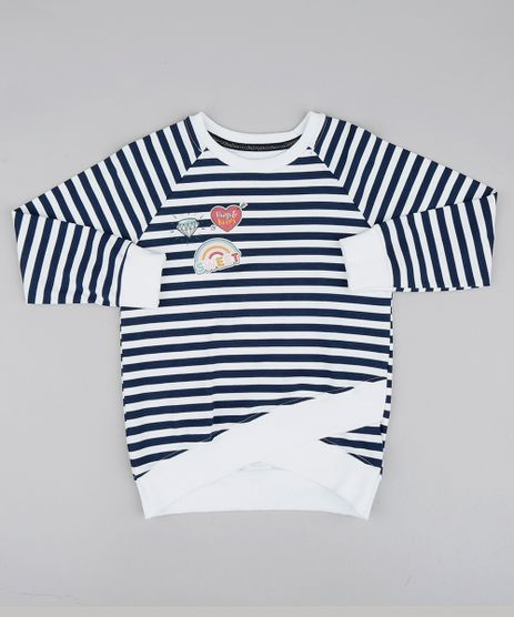 Blusao-Infantil-Assimetrico-Listrado-com-Brilho-Branco-9539949-Branco_1