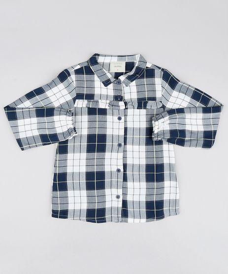 Camisa-infantil-Estampada-Xadrez-com-Brilho-e-Babado-Manga-Longa-Azul-Marinho-9549419-Azul_Marinho_1