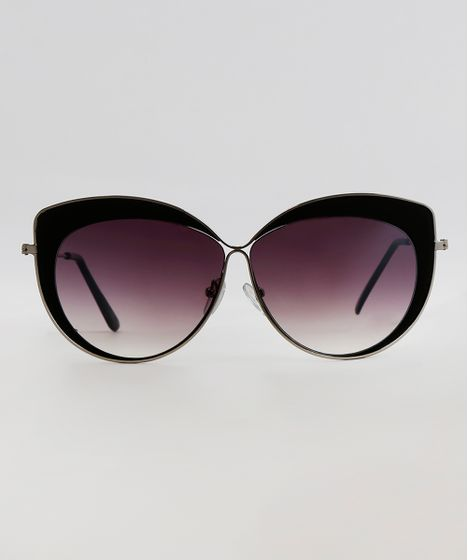 3ec5d4a83 Oculos-de-Sol-Gatinho-Feminino-Oneself-Prateado-9617125- ...