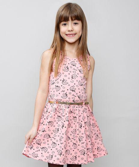 Vestido-Infantil-Estampado-de-Unicornios-com-Cinto-Sem-Manga-Rosa-9537313-Rosa_1