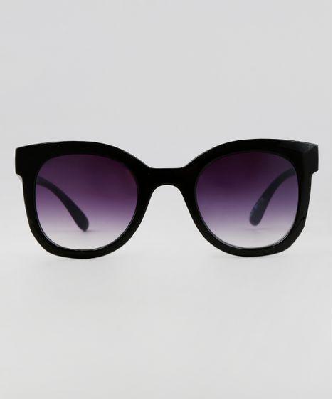 36125b1a1 Oculos-de-Sol-Redondo-Feminino-Oneself-Preto-9617128- ...