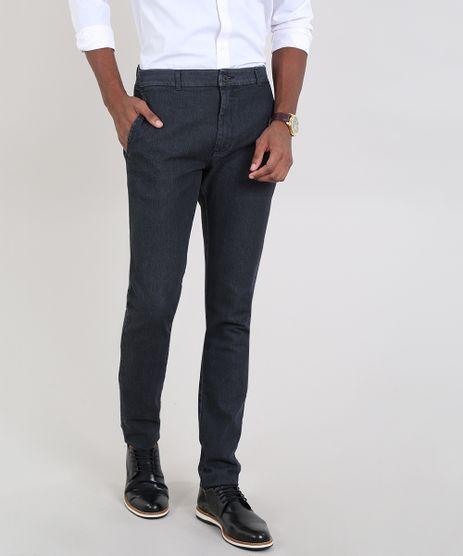 Calca-Jeans-Masculina-Slim-Chino-Preta-9563734-Preto_1