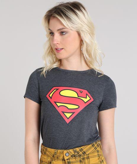 Blusa-Feminina-Super-Homem-Decote-Redondo-Manga-Curta-Cinza-Mescla-Escuro-9573349-Cinza_Mescla_Escuro_1