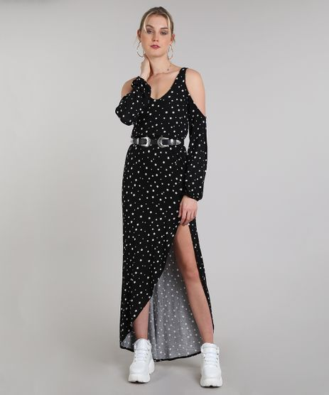 Vestido-Feminino-Longo-Open-Shoulder-Estampado-de-Estrelas-Manga-Longa-Preto-9569259-Preto_1