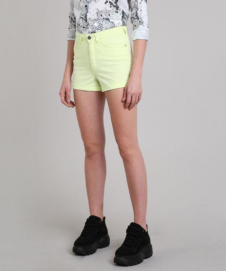 Short-de-Sarja-Feminino-Hot-Pant-Cintura-Alta-Amarelo-Neon-9587498-Amarelo_Neon_1