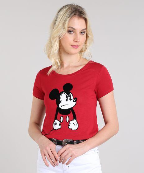Blusa-Feminina-Mickey-Manga-Curta-Decote-Redondo-Vermelho-9577898-Vermelho_1