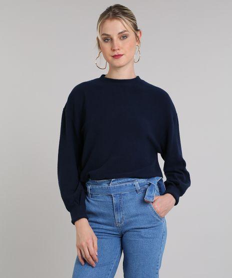 Blusao-Feminino-em-Fleece-Decote-Redondo-Azul-Marinho-9419478-Azul_Marinho_1