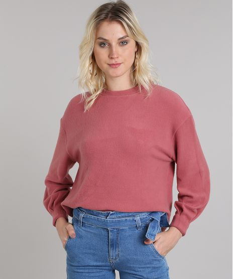 Blusao-Feminino-em-Fleece-Decote-Redondo-Rosa-Escuro-9419478-Rosa_Escuro_1