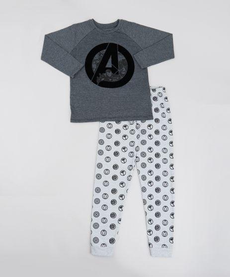 Pijama-Infantil-Os-Vingadores-Manga-Longa-Cinza-Mescla-Escuro-9526415-Cinza_Mescla_Escuro_1