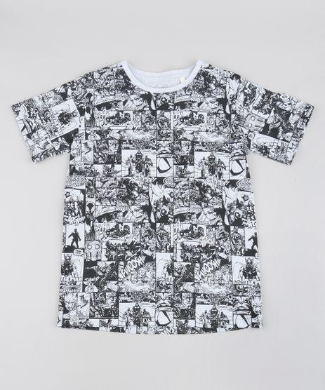 9c40f0322f Camiseta-Infantil-Os-Vingadores-Estampada-Quadrinhos-Manga-Curta-