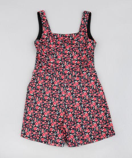 Macaquinho-Infantil-Estampado-Floral-Sem-Manga-Preto-9578547-Preto_1