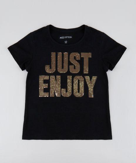 Blusa-Infantil--Just-Enjoy--com-Paete-Manga-Curta-Decote-Redondo-Preta-9552407-Preto_1