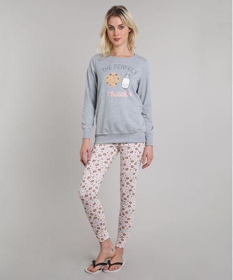 Pijama-de-Inverno-Feminino-Milk-e-Cookie-em-Moletom-Manga-Longa-Cinza-Mescla-9508010-Cinza_Mescla_1