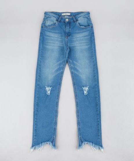 Calca-Jeans-Infantil-com-Rasgos-e-Barra-Desfiada-Azul-Medio-9541165-Azul_Medio_1