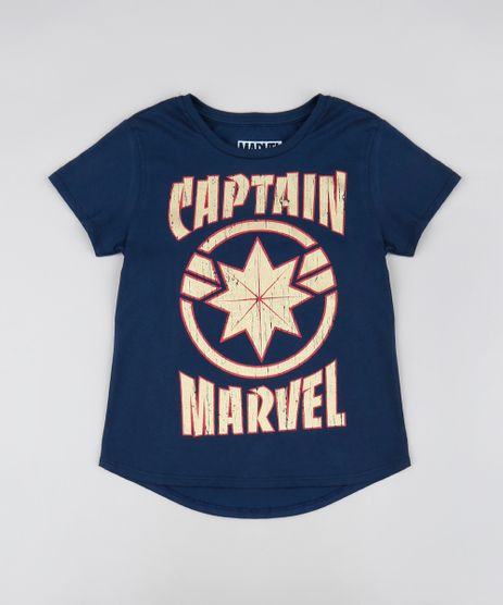 Blusa-Infantil-Capita-Marvel-Metalizada-Manga-Curta-Decote-Redondo-Azul-Marinho-9550225-Azul_Marinho_1
