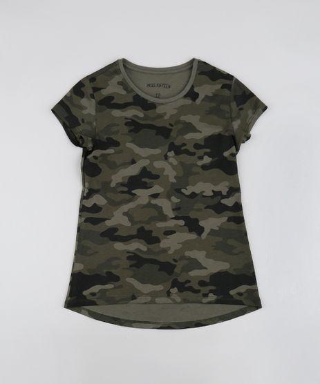 Blusa-Infantil-Estampada-Camuflada-Manga-Curta-Decote-Redondo-Verde-Militar-9560773-Verde_Militar_1