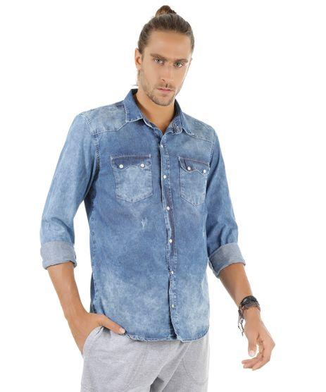 53cdbac0fd Camisa-Jeans-Azul-Medio-8534202-Azul Medio 1