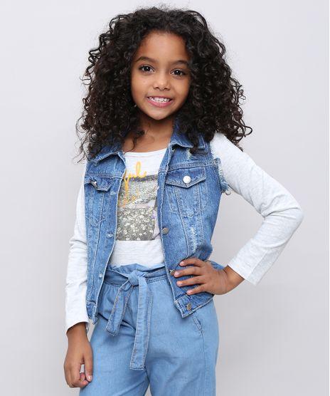 Colete-Jeans-Infantil-com-Rasgos-e-Strass-Azul-Medio-9246824-Azul_Medio_1