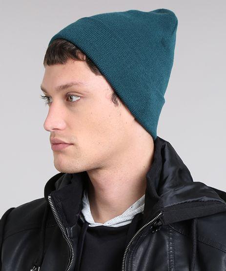 Gorro-Masculino-Basico-em-Trico-Verde-Escuro-9465067-Verde_Escuro_1
