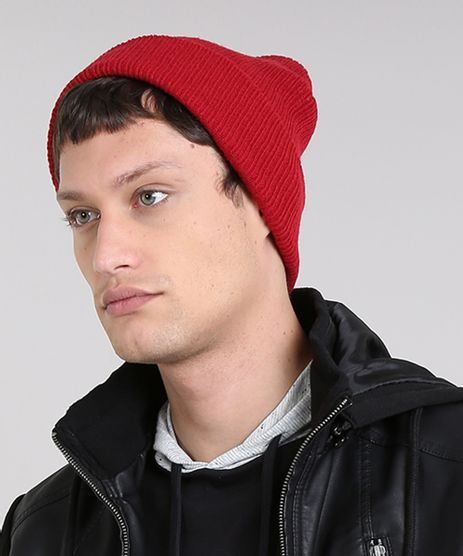 Gorro-Masculino-Basico-em-Trico-Canelado-Vermelho-9398750-Vermelho_1