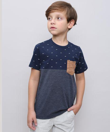 Camiseta-Infantil-com-Bolso-em-Suede-Manga-Curta-Azul-Marinho-9534618-Azul_Marinho_1