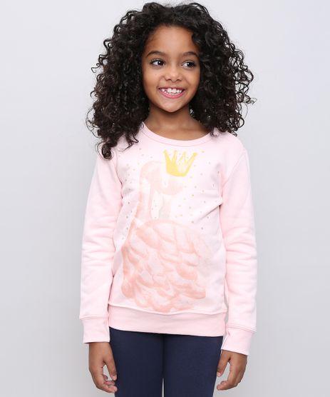Blusao-Infantil-em-Moletom-Cisne-com-Brilho-Rosa-Claro-9539947-Rosa_Claro_1