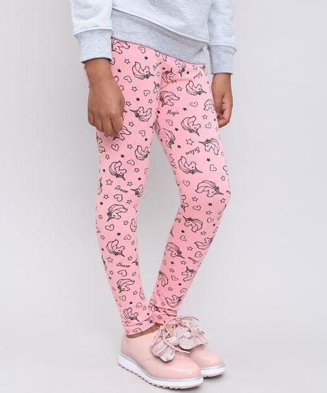 Calca-Legging-Infantil-Estampada-de-Unicornios-Rosa-9538317-Rosa_1