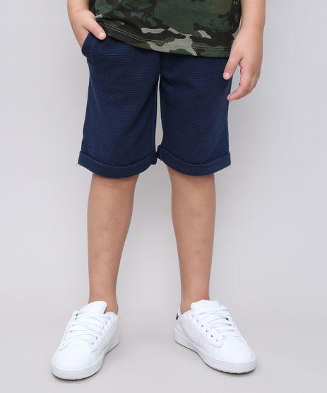 Bermuda-Infantil-em-Moletom-com-Textura-e-Bolsos-Azul-Marinho-9360494-Azul_Marinho_1