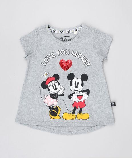 Blusa-Infantil-Minnie-e-Mickey-Manga-Curta-Decote-Redondo-Cinza-Mescla-9549216-Cinza_Mescla_1